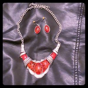 Faux red amber set